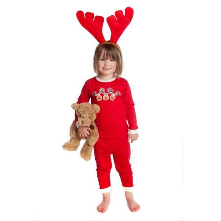 Χριστουγεννιάτικη Κόκκινη Πιτζάμα Με Τάρανδους JimJamz