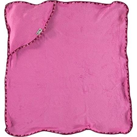 Ροζ Πετσέτα Μπαμπού Με Κουκουβάγιες Close
