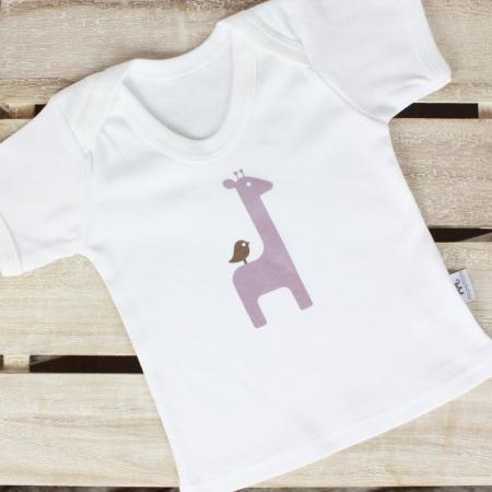 Κοντομάνικη μπλούζα Giraffe Molly & Monty