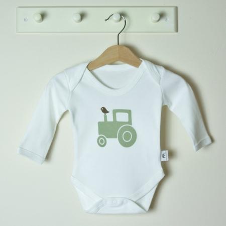 Βρεφικό μακρυμάνικο φορμάκι Green Tractor Molly & Monty