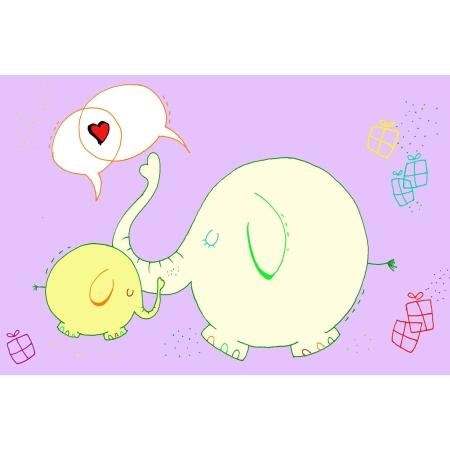Ευχετήρια Κάρτα Με Ελεφαντάκια BabyMou