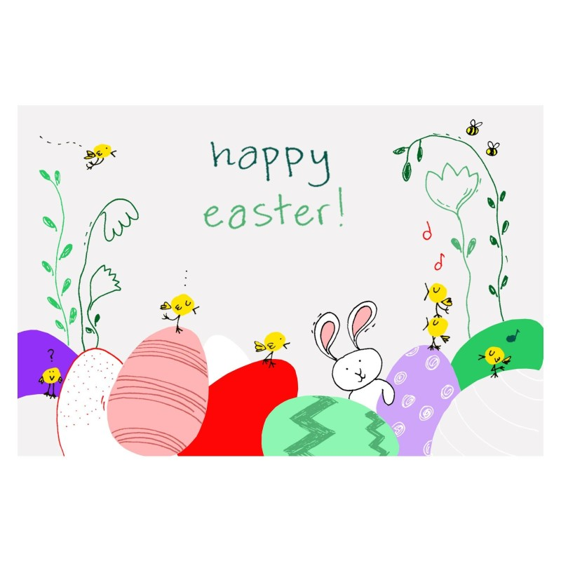 Πασχαλινή Ευχετήρια Κάρτα Happy Easter BabyMou
