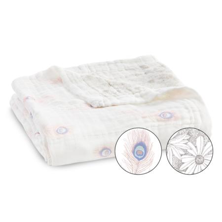 Κουβερτούλες Κουβέρτα Από Μπαμπού Με Φτερά Παγωνιού aden + anais® aden + anais®
