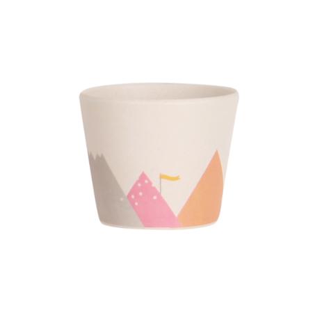 Σκεύη Φαγητού Μικρό Ποτηράκι Με Βουνά από μπαμπού Ουράνιο Τόξο Love Mae Love Mae