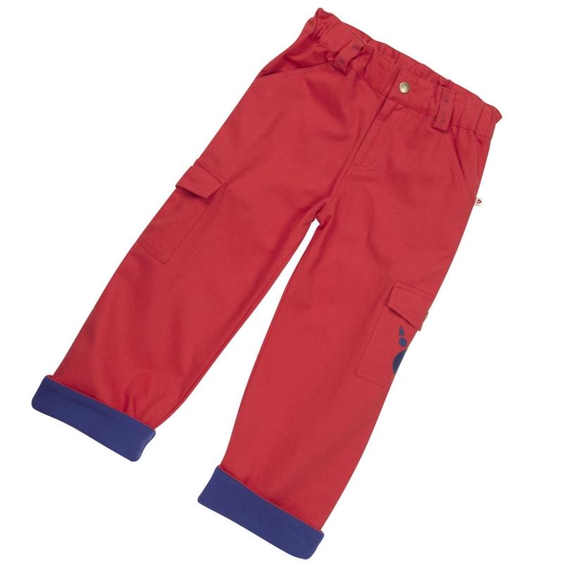Παντελόνια Κόκκινο Παντελόνι Με Πατούσα Αρκούδας Piccalilly Piccalilly