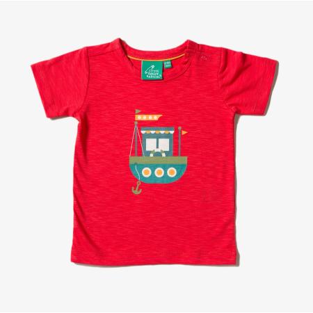 Κόκκινη Κοντομάνικη Μπλούζα Με Καραβάκι Little Green Radicals