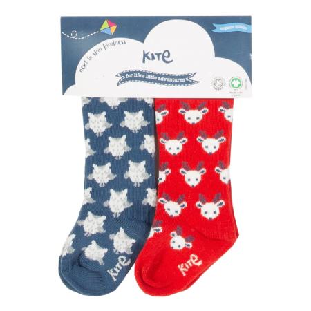 Καλσόν και Kάλτσες Καλτσάκια Με Κουκουβάγιες Και Ταρανδάκια (2 ζευγάρια) Kite Kite