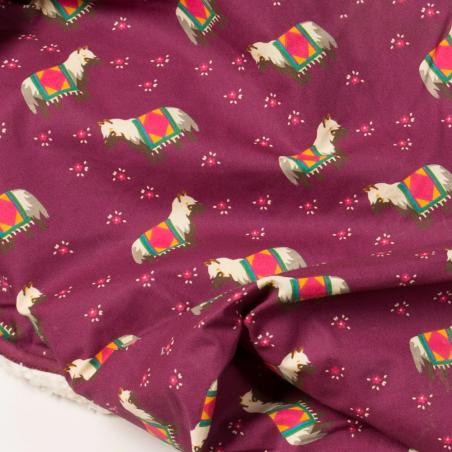 Κουβέρτα Με Σκανδιναβικά Αλογάκια Και Γούνα Little Green Radicals