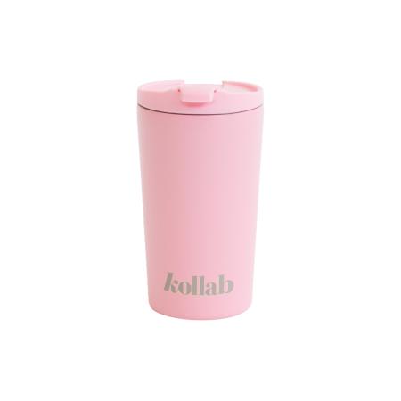 Παγούρια Νερού Ροζ Μεταλλική Κούπα Kollab Kollab