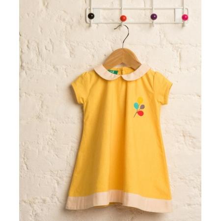 Φορέματα Κίτρινο Φόρεμα Με Γιακαδάκι Little Green Radicals Little Green Radicals