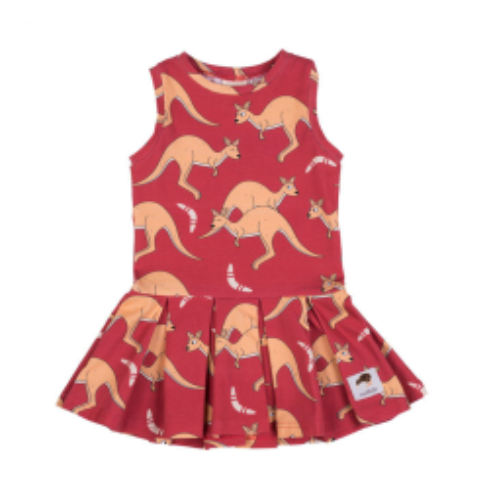 Φορέματα Κόκκινο Φόρεμα Με Καγκουρό Mullido Mullido