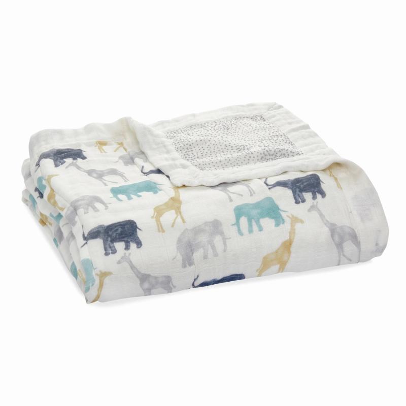 Κουβερτούλες Κουβέρτα Από Μπαμπού Με Ελέφαντες Και Καμηλοπαρδάλεις aden + anais® aden + anais®