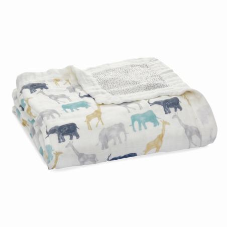 Κουβέρτα Από Μπαμπού Με Ελέφαντες Και Καμηλοπαρδάλεις aden + anais®