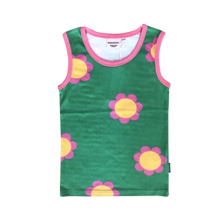 Κοντομάνικα Πράσινη Αμάνικη Μπλούζα Με Λουλούδια Moromini moromini