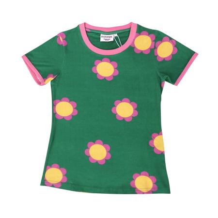 Κοντομάνικα Πράσινη Κοντομάνικη Μπλούζα Με Λουλούδια Για Τη Μαμά Moromini moromini