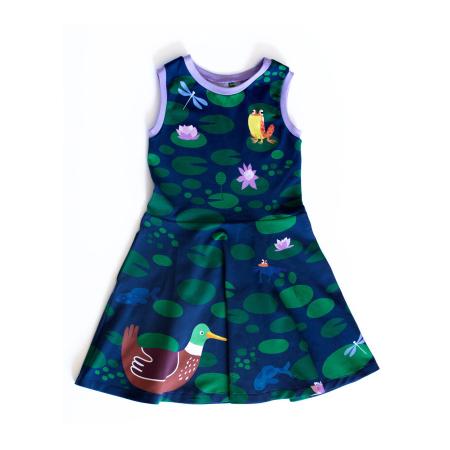 Φορέματα Αμάνικο Φόρεμα Λίμνη Με Πάπιες Merle Kids Merle Kids