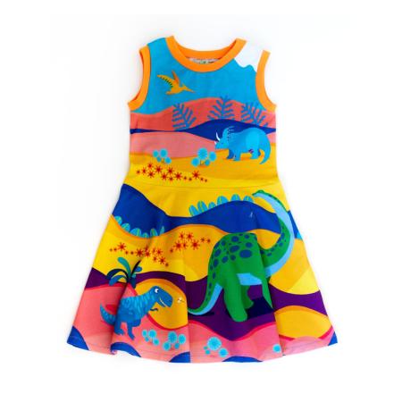 Φορέματα Αμάνικο Φόρεμα Με Δεινόσαυρους Merle Kids Merle Kids