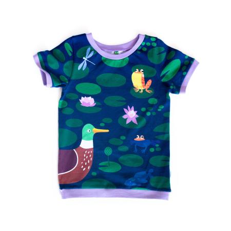Κοντομάνικα Κοντομάνικη Μπλούζα Λίμνη Με Πάπιες Merle Kids Merle Kids