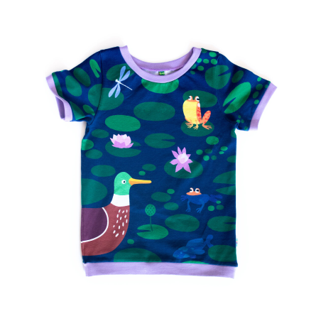Κοντομάνικη Μπλούζα Λίμνη Με Πάπιες Merle Kids