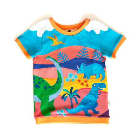 Κοντομάνικη Μπλούζα Με Δεινόσαυρους Merle Kids