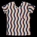 Ενηλικων Κοντομάνικη Μπλούζα Για Τη Μαμά Με Κυματιστό Μοτίβο Raspberry Republic Raspberry Republic
