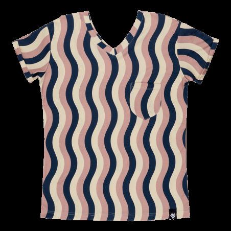 Κοντομάνικη Μπλούζα Για Τη Μαμά Με Κυματιστό Μοτίβο Raspberry Republic