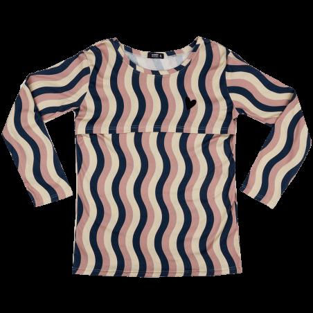 Μπλούζα Θηλασμού Για Τη Μαμά Με κυματιστό Μοτίβο Raspberry Republic