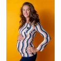 Ενηλικων Μπλούζα Θηλασμού Για Τη Μαμά Με κυματιστό Μοτίβο Raspberry Republic Raspberry Republic