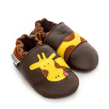 Δερμάτινα Παπουτσάκια Brown Giraffe Liliputi®