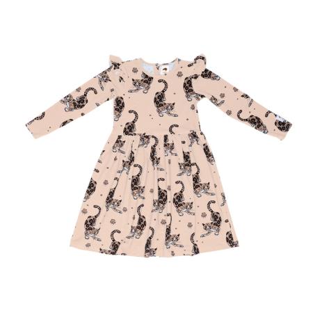 Φορέματα Μπεζ Φόρεμα Με Λεοπαρδάλεις Και Φραμπαλά Mullido Mullido