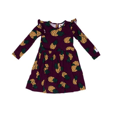 Φορέματα Μωβ Φόρεμα Με Ανανάδες Και Φραμπαλά Mullido Mullido
