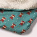 Κουβερτούλες Κουβέρτα Με Αλεπουδάκια Και Γούνα Little Green Radicals Little Green Radicals