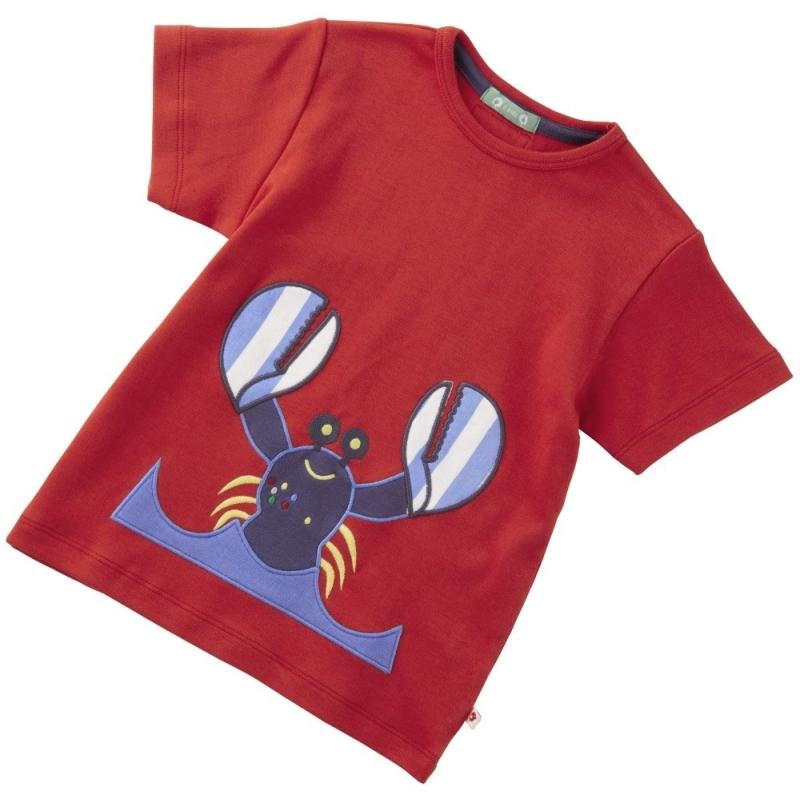 Κοντομάνικα Κόκκινη Μπλούζα Με Αστακό Piccalilly Piccalilly