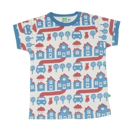Μπλούζα Με Σπιτάκια Και Γατούλες Sture & Lisa