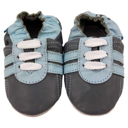 Παπουτσάκια Δερμάτινα Παπουτσάκια Grey Trainers Minifeet Minifeet Shoes