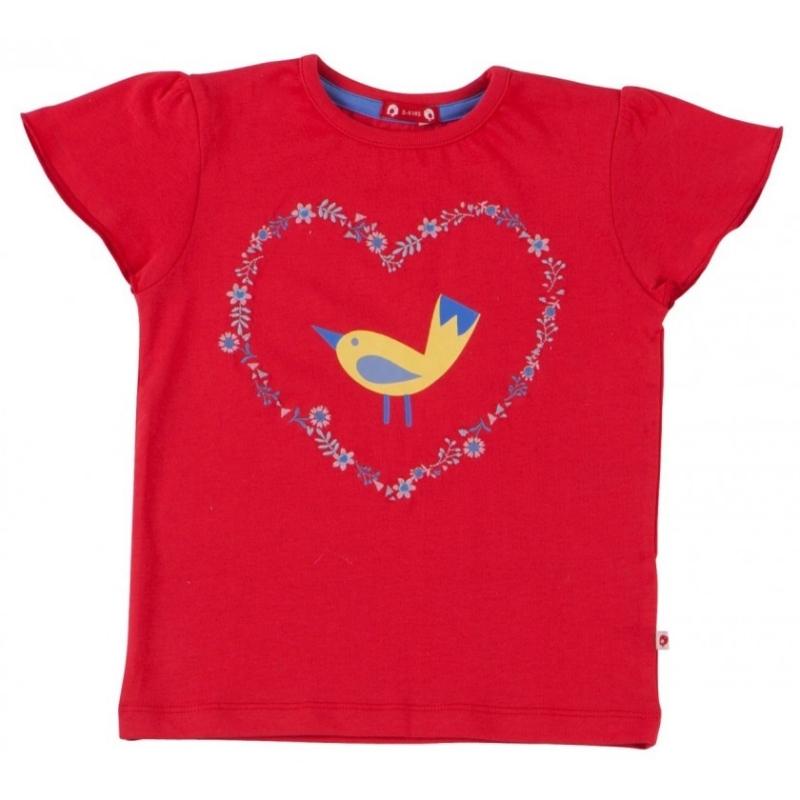 Κόκκινη Μπλούζα Με Πουλάκι Piccalilly