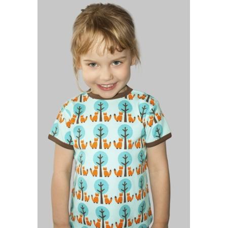 Κοντομάνικα Μπλούζα Με Αλεπουδίτσες Στο Δάσος Sture & Lisa Sture & Lisa