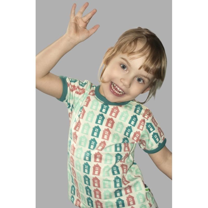 Κοντομάνικα Μπλούζα Με Σπιτάκια Sture & Lisa Sture & Lisa