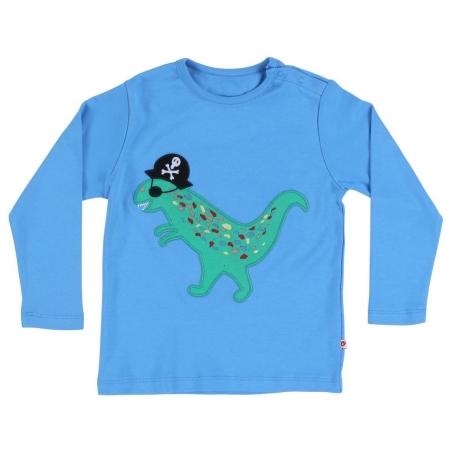 Μακρυμάνικα Γαλάζια Μπλούζα Με Δεινόσαυρο Πειρατή Piccalilly Piccalilly