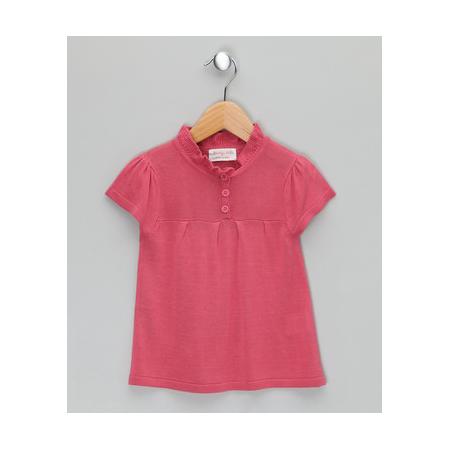 Κοντομάνικα Ροζ Πλεκτή Μπλούζα Από Μπαμπού Bamboo baBy Bamboo baBy