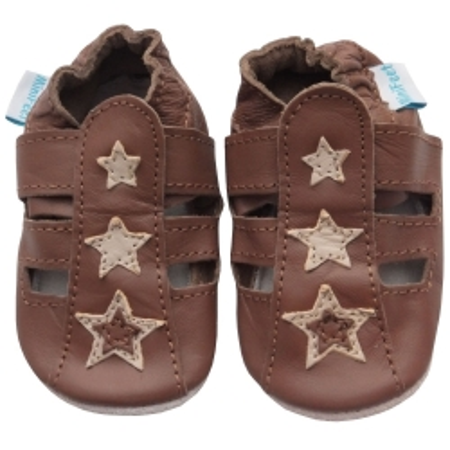 Δερμάτινα Παπουτσάκια Brown Sandals Minifeet