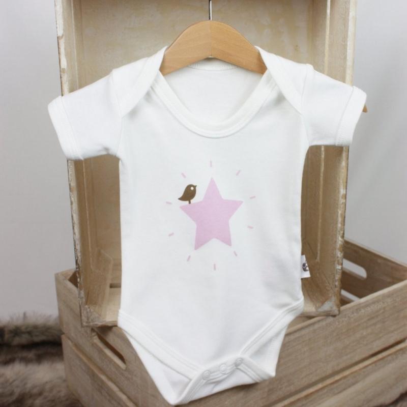 Κοντομάνικα Βρεφικό κοντομάνικο φορμάκι Pink Star Molly & Monty Molly & Monty