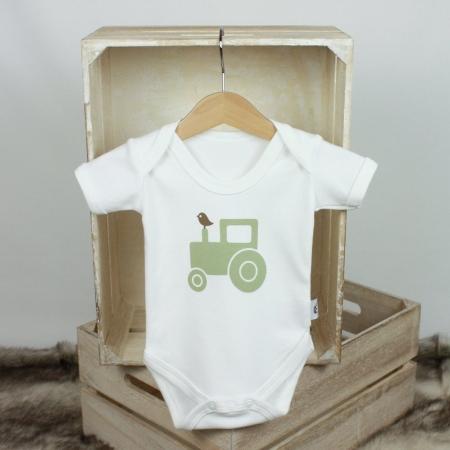 Βρεφικό κοντομάνικο φορμάκι Green Tractor Molly & Monty