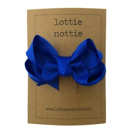 Royal Μπλε Στριφτός Φιόγκος Σε Κλιψάκι Lottie Nottie