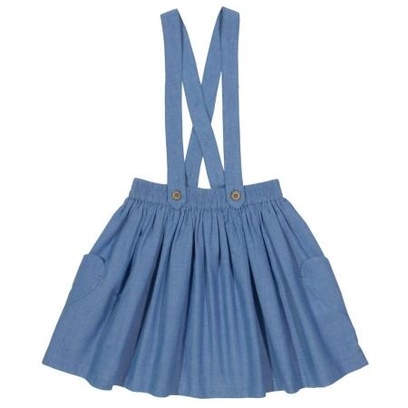 Φούστες Γαλάζια Φούστα Με Τιράντες Kite Kite