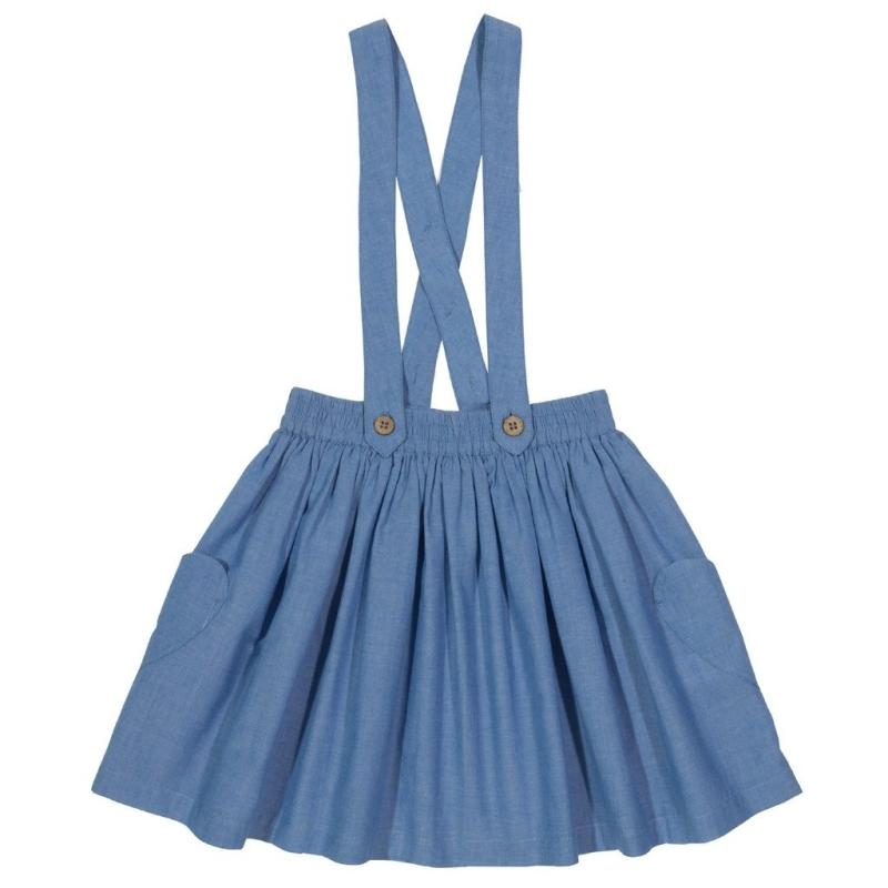 Γαλάζια Φούστα Με Τιράντες Kite