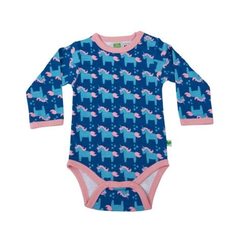 Μπλε Βρεφικό Φορμάκι Μονόκερος Sture & Lisa