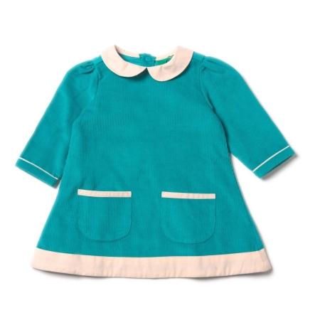 Φορέματα Πετρόλ Κοτλέ Φόρεμα Με Γιακαδάκι Little Green Radicals Little Green Radicals