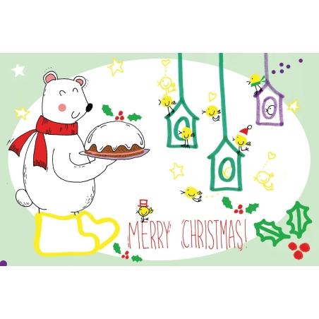 Χριστουγεννιάτικη Ευχετήρια Κάρτα Merry Christmas BabyMou