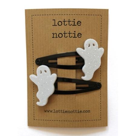 Λευκά Φαντασματάκια Σε Μαύρα Κλιψάκια Lottie Nottie